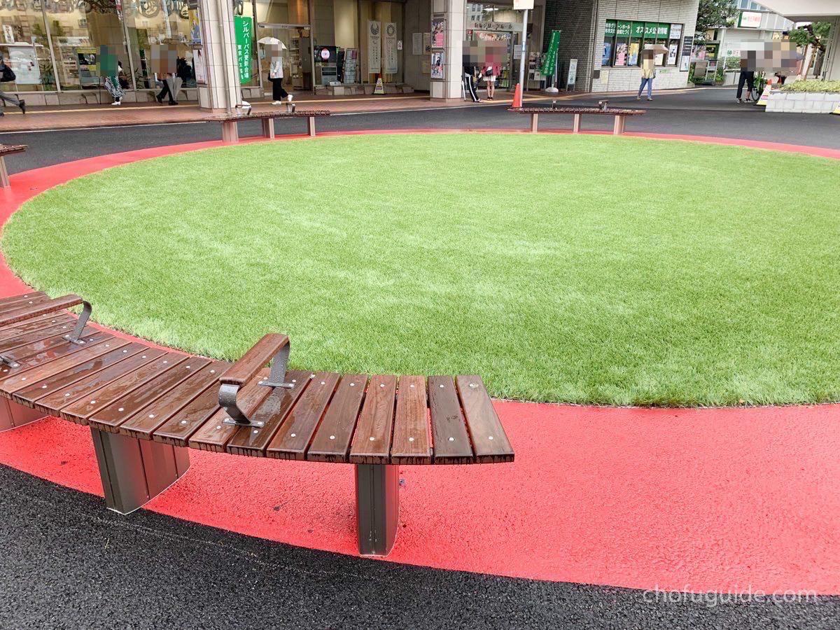 芝生ゾーンも