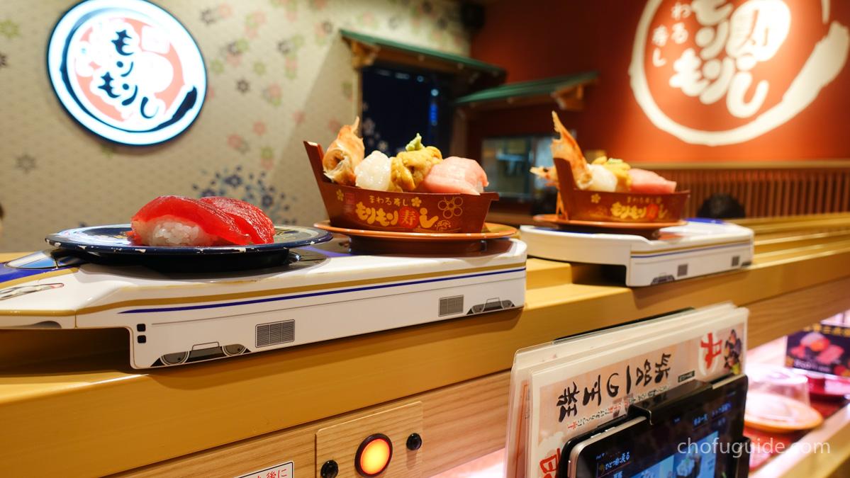 北陸新幹線風に運ばれてくるお寿司