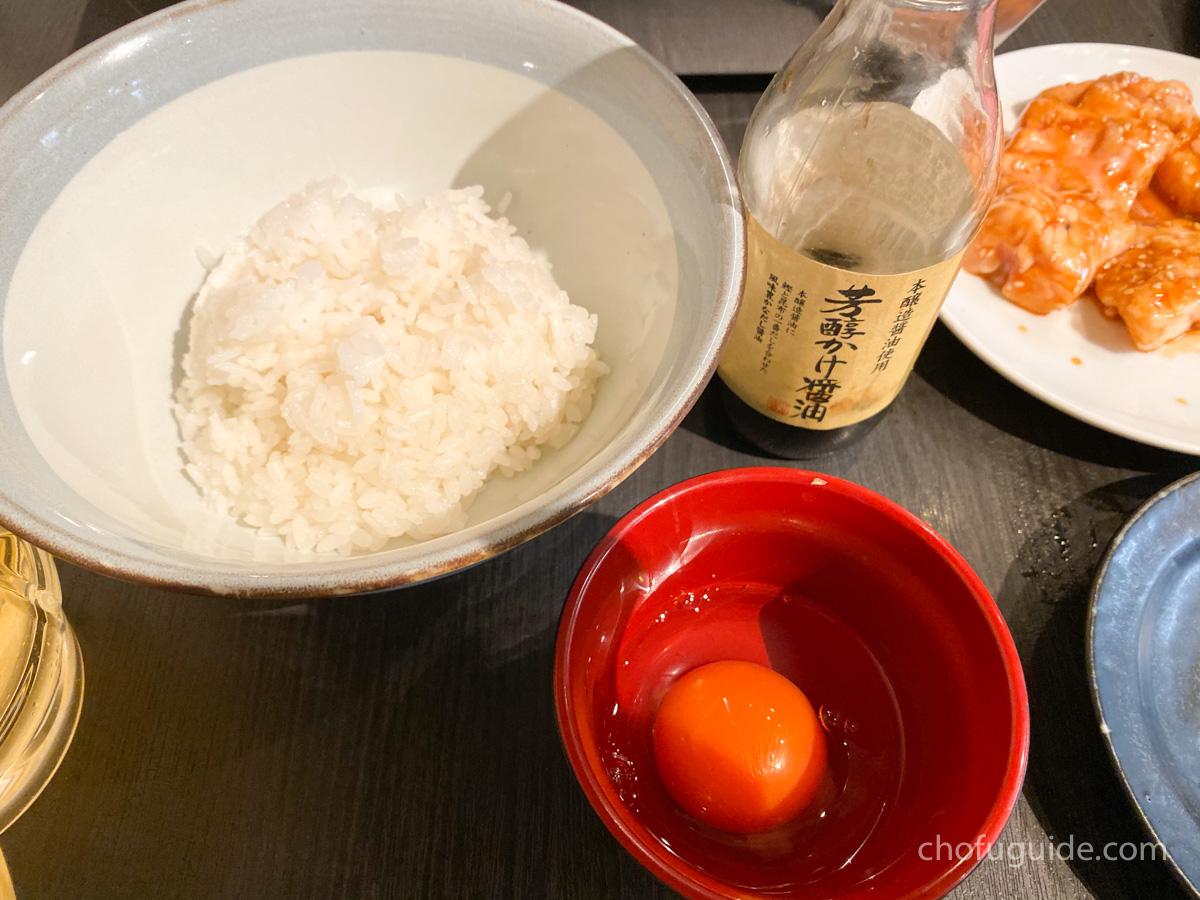 卵かけご飯とサンチュ