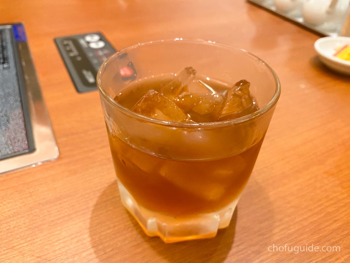 『紹興酒カメ出し5年 グラス』500円