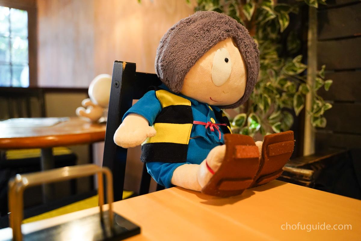 鬼太郎茶屋でカフェを楽しむ