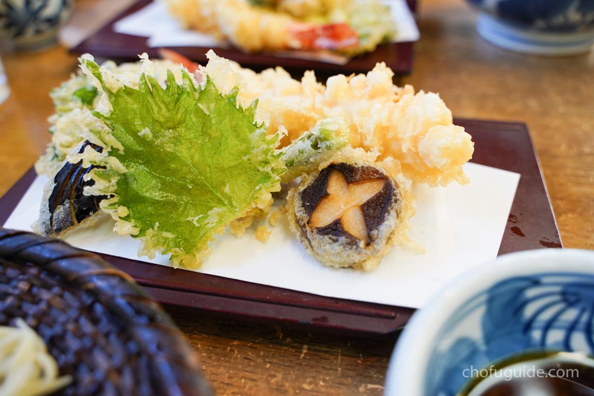 天ぷらが輝いている