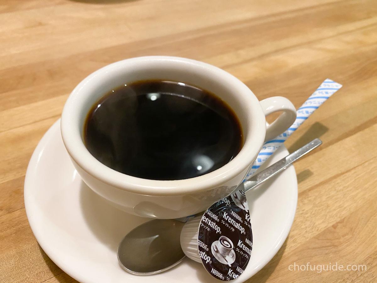 追加したコーヒー