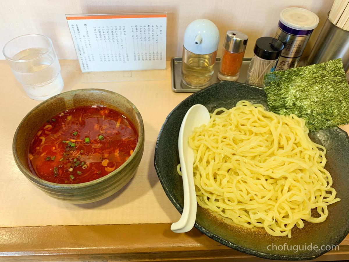 魚介醤油つけ麺+カツオラー油