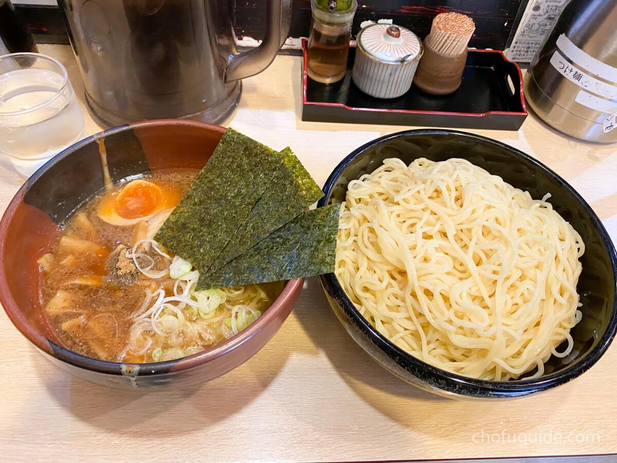 『全部増し醤油つけ麺(980円)』