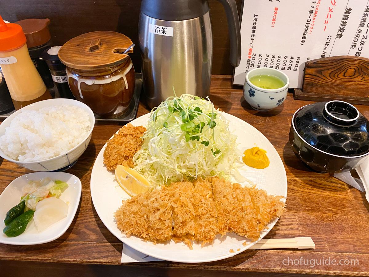 Bランチ『ランチロースかつ定食 1200円(税抜)』