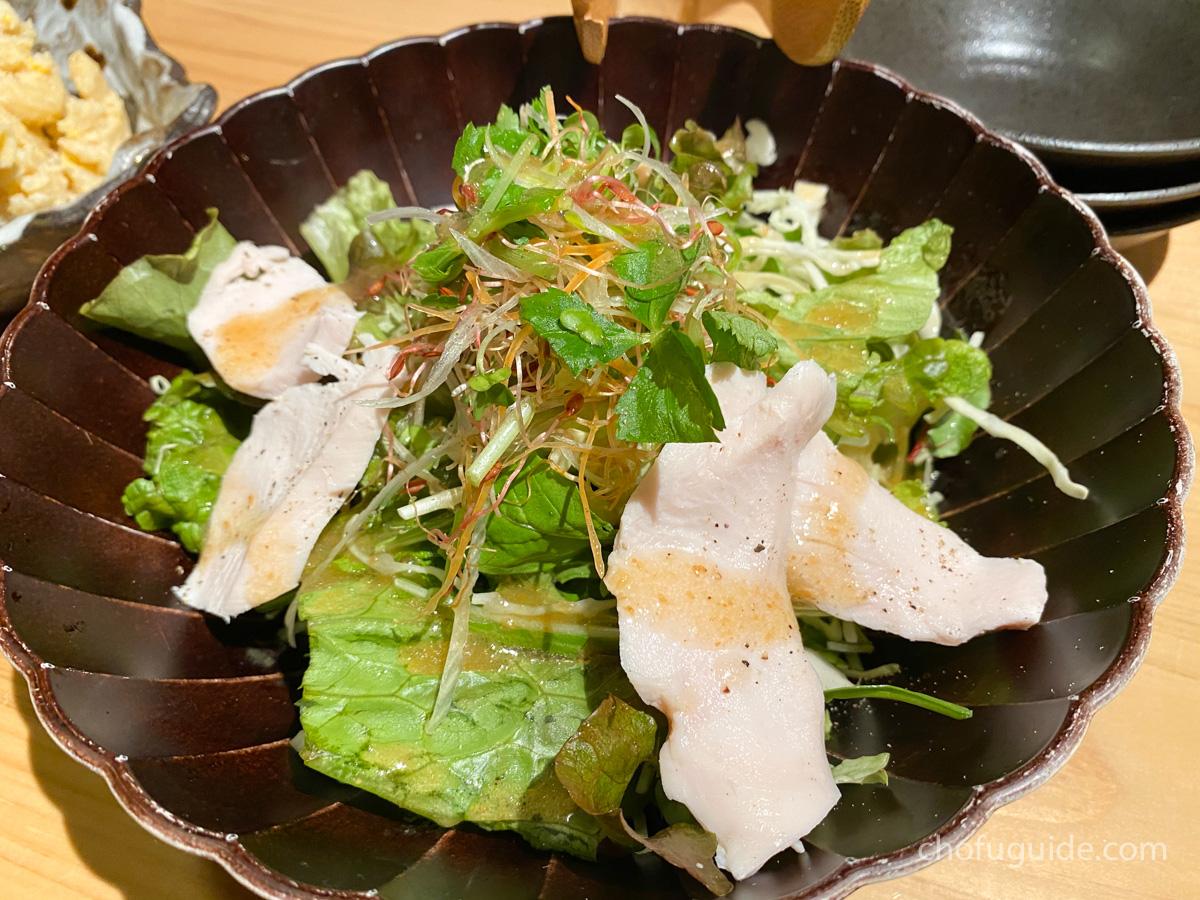 一灯サラダ ~鶏ハムとベビーリーフ~