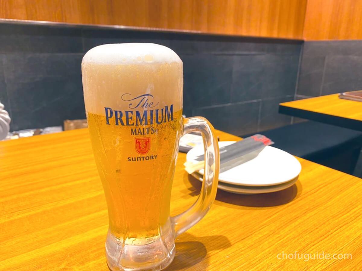 プレミアムモルツで乾杯