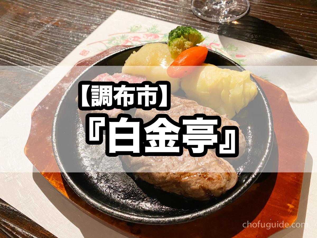 【調布市】『白金亭』深大寺にある落ち着いた雰囲気で頂く絶品ハンバーグとコース料理!
