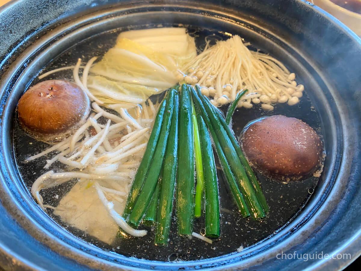 鍋のお野菜