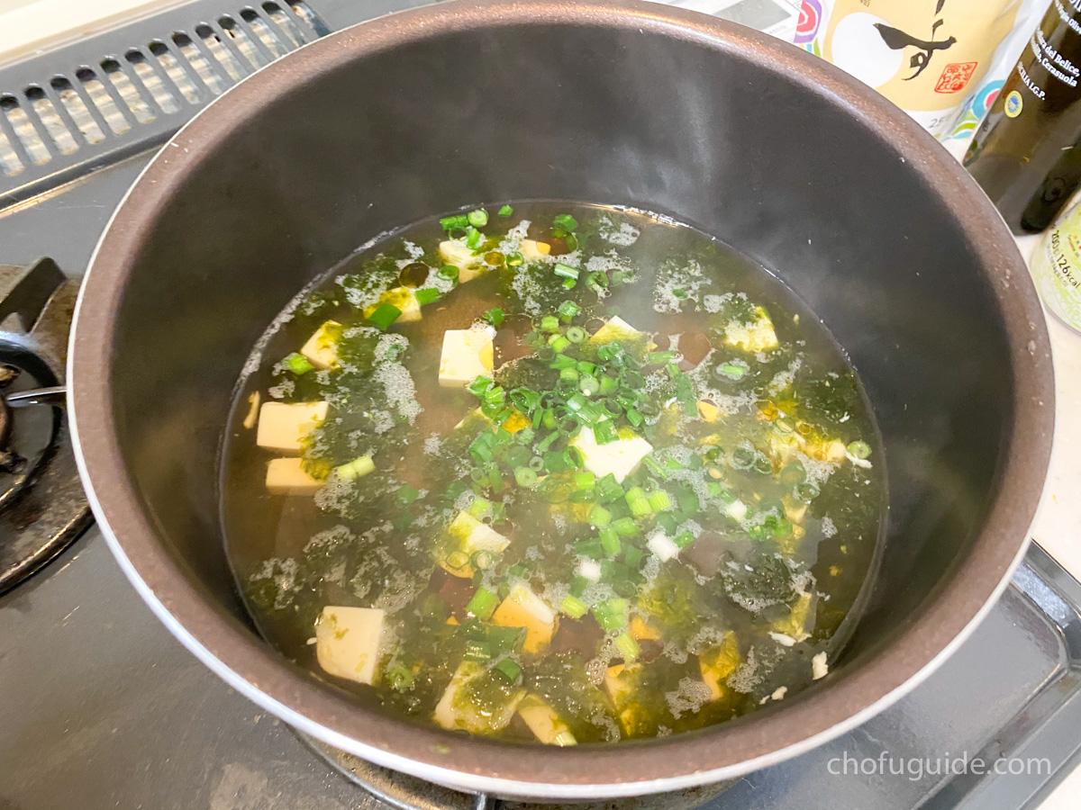 付属のスープも簡単